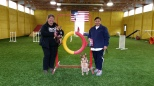 Lori Bessenhoffer/Vinnie and Lorinda McKisson/Keanu earned 1st place and Q's in the Gamblers class in their first try at USDAA agility at the Feb 2015 Branchwater Intro trial. Well done everyone !