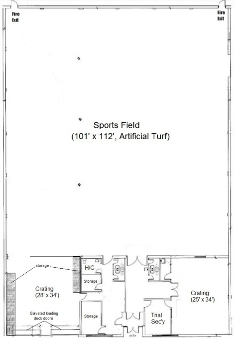 Oriole DTC facility - full floor plan