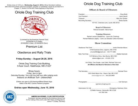 Baltimore Dog Training Club